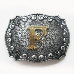 Wholesale Letter P V - New Western Cowboy Initial Letter F H I N O P Q U V X Y Z Belt Buckle Gurtelschnalle Boucle de ceinture BUCKLE-LE010 Brand New Free Shipping