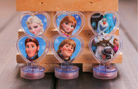 Wholesale Carved Stamps - 4set=24pcs Frozen Anna Elsa Stamper Set Cartoon Character Princess Stamp New Novelty Toy Gifts stampsStamps Free shipping