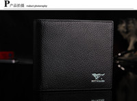 Wholesale Septwolves Wallets - Promotionman SEPTWOLVES genuine leather male short design mens wallet business casual wallet