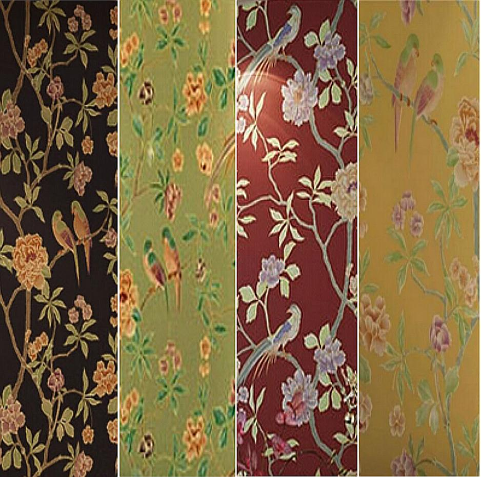 Birds Trees Branch Embossed Textured Non Woven Wallpaper Flowery