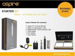 Canada Vente en gros - Kit de démarrage authentique de haute qualité authentique avec Aspire 900mah G-Power Battery e cigarette vape kit Offre