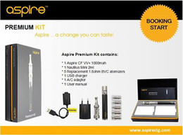 Wholesale Tank Up - Wholesale - Genuine High Quality Authentic Aspire Premium Kit with 1000mah CF VV+ Battery And Nautilus Mini Tank DHL UPS FreeShipping