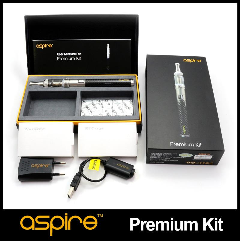 100% Genuine High Quality Authentic Aspire Premium Kit with 1000mah CF VV+ Battery And Nautilus Mini Tank Aspire eGo Kit ecig vape kit
