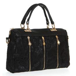 Wholesale Leather Lace Shoulder Bag - Fashion shoulder bags sale Lady Retro Lace Designer PU (Faux) Leather Shoulder bags for women H10516