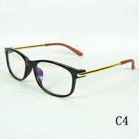12pcs lot korean style black glasses frame pc frame metal temples classic optical frame good quality mix colors drop shipment in bulk