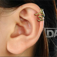 Wholesale Wholesale Ear Cuffs Frog - Free shipping Min.order $15 (mix order) Punk Jewelry Frog ear cuff, ear clips, punk gothic fashion jewelry