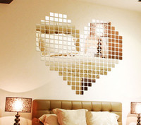 Cheap 3D Sticker mirror sticker Best PVC Design Wall Sticker