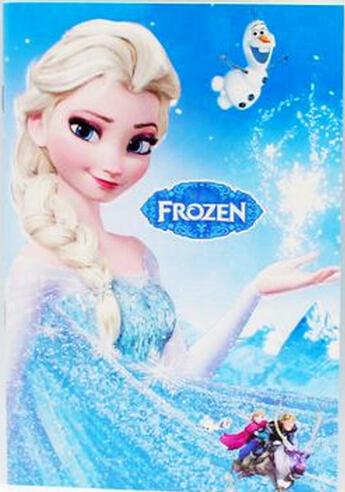 Frozen Cartoon 55x4 Kids Coloring Book With Stickers Drawing Children Gift Paper Stock Stationary Shop From Coco Yong 067
