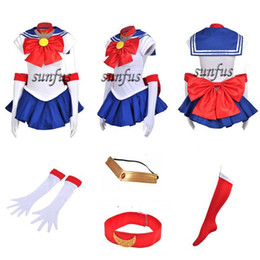 Wholesale Sailor Moon Costumes Kids - 2014 New Sailor Moon SM Tsukino Usagi Dress party Cosplay Costume & petticoat any size