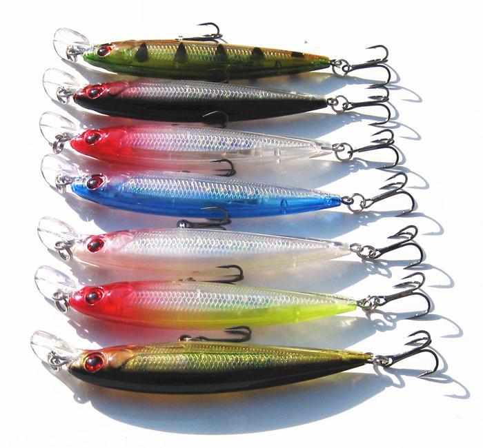 Esca da pesca con richiamo di pesca 110mm 13g depeth 0.5-1.5m spedizione gratuita 7 pezzi / lotto