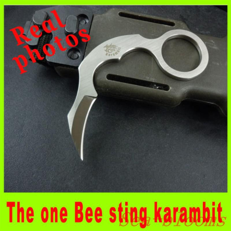 2014 The one Bee sting Fixed karambit Mini blade knife EDC knife D2 steel outdoor camping survival knife top quality Christmas gift 170H