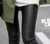 Wholesale Leggins Pants Leather - XL - S Faux Leather Leggings for women Lady leggins pants New sexy Fashion 2014 wholesale free shipping