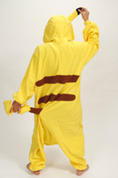 Wholesale Kigurumi Unisex Pyjamas Cosplay Costumes - plus size jumpsuits Yellow Cosplay Pikachu Dress animal costume Kigurumi Pajamas Animal Pyjamas Costume Coral Fleece Animal Sleepwear