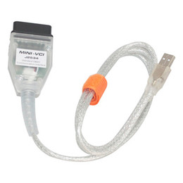 Wholesale vci toyota - Wholesale MINI VCI TOYOTA TIS CABLE Toyota Diagnostic Test Line Single Cable For MINI VCI FOR TOYOTA TIS Techstream
