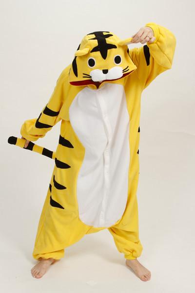 plus size Lovely Cheap Kigurumi Pajamas Anime Tiger animal costume Kigurumi Pajamas Animal Pyjamas Costume Coral Fleece Animal Sleepwear