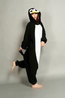 Wholesale Cheap Onesie Dress - New Lovely Cheap Black Penguin Kigurumi Pajamas Anime Pyjamas Cosplay Costume Unisex Adult Onesie Dress Sleepwear Halloween