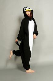 Wholesale Cheap Xxl Dresses - New Lovely Cheap Black Penguin Kigurumi Pajamas Anime Pyjamas Cosplay Costume Unisex Adult Onesie Dress Sleepwear Halloween