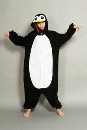 Wholesale Kigurumi Animal Onesie - new plus sizePenguin Unisex Adult Onesie halloween costume Kigurumi Pajamas Animal Pyjamas Costume Animal Sleepwear