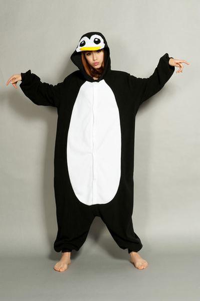 новый плюс sizePenguin унисекс взрослых Onesie Хэллоуин костюм кигуруми пижамы животных пижамы костюм животных пижамы