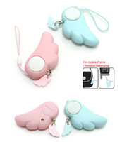 Wholesale Personal Anti Lost Alarm - Angel Wing personal safety alarm Guardian women anti-rape self-protection alarm anti-theft anti-lost alarm for cellphone kid bag
