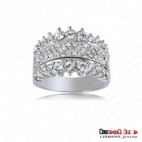 Wholesale ring paved stone for sale - Ring Vintage Royal Princess Ring Platinum Plating Genuine SWA Elements Austrian Crystal Costume Rings mm Ri HQ0247