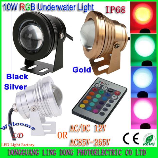 10w Led Underwater Light Dc12v 85 265v Warm Cool White Rgb