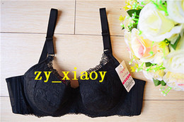 Ultra Thin Bras Canada - New Secret Sexy Women's Embroidery Lace Large Big Cup 34 36 38 40 C D E Bra Adjustable Lady Girl Plus Size Underwear Push Up Ultra Thin DN2