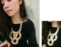 Wholesale Multilevel Necklace - Wholesale - 2014 New Fashion Boho Style Exaggerated Multilevel Chain Statement Necklaces Women Evening Dress Jewelry Choker