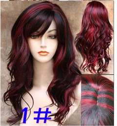 Wholesale Long Sexy Hair Wigs - sexy fashion Long wave lady's synthetic hair wig women wigs 260g 24 inch