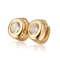 Wholesale baby children earrings resale online - 2014 K Gold Plated Children Hoop Earrings Crystal Zircon SW Element Fashion Baby Girl Earring E18K