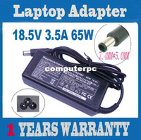 Wholesale Hp G62 Notebook - Wholesale-OP-65W 18.5V 3.5A Laptop AC Adapter Power Supply Notebook Charger For HP Compaq G62 CQ45 CQ40 G6