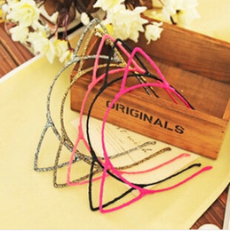 Wholesale Ladies Fabric Headbands - Free shipping New fashion women girl Lovely cat ear fine hair band hoop for lady hair accessory #70280
