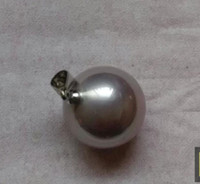 Wholesale Purple Tahitian Pearls - Natural AAA + 16mm Tahitian purple shell pearl Pendant necklace 925