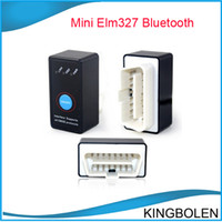 Wholesale Elm 327 Switch - 2014 New Arrival V2.1 Super Mini Bluetooth ELM327 ELM 327 OBD2 OBDII Diagnostic Scanner With Power Switch for Android Symbian Windows