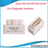 Wholesale Elm327 White - Hot selling MINI ELM327 Bluetooth OBD-II White V2.1 ELM 327 OBD2 OBDII auto diagnostic interface free shipping