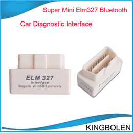 Wholesale Porsche Obd Codes - Hot selling MINI ELM327 Bluetooth OBD-II White V2.1 ELM 327 OBD2 OBDII auto diagnostic interface free shipping