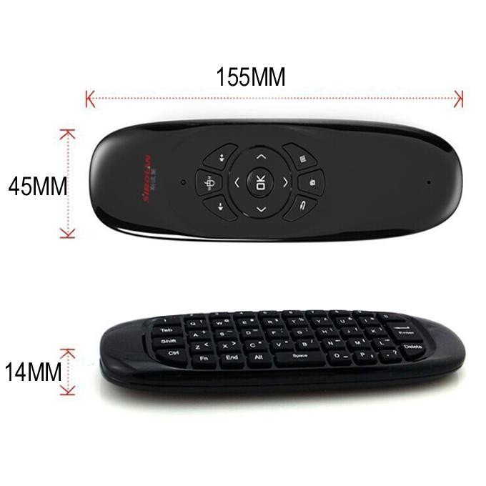 Wireless Mini Keyboard C120 Fly Air Mouse Game USB Receiver Gamepad 2 in 1 Gyroscope Handgrip Remote Control for Smart TV Box A95X MXQ Pro