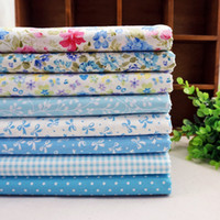 Wholesale New Quilting Fabric - SALE! 8pcs lot 50*40cm New Baby Blue Tilda Doll Cotton Patchwork Fabric Set Sewing Home Textile Cloth for Free Craft Quilting