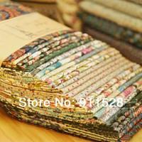 "Wholesale Cotton Poplin Fabrics - fcz013 12pcs lot Dark Green Vintage Cotton Poplin DIY Fabric Blocks for Quilting - 24x24cm  9.4""x9.4"""