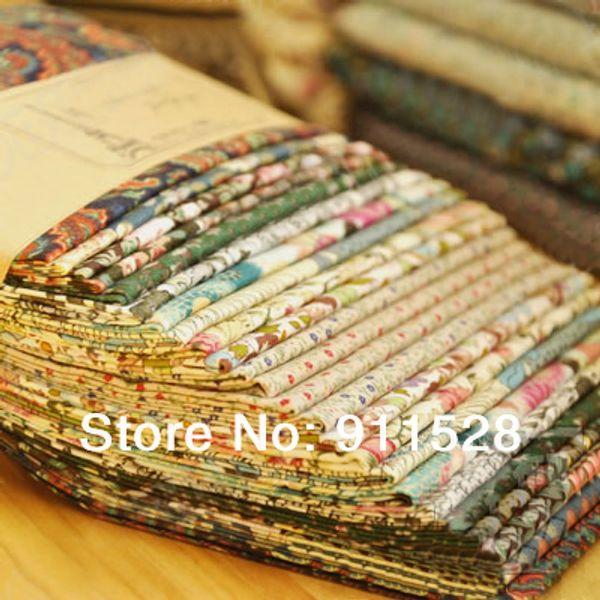 "best selling fcz013 12pcs lot Dark Green Vintage Cotton Poplin DIY Fabric Blocks for Quilting - 24x24cm  9.4""x9.4"""