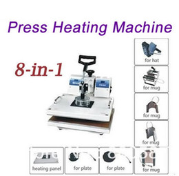Wholesale Tshirt Pressing Machine - high quality 8 in1 press heating machine for Tshirt   Mug   Cap   Plate , T shirt heat press machine