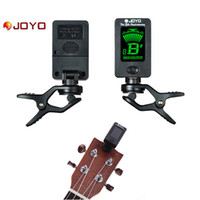 Wholesale Tuner For Guitar Free Shipping - JOYO JT-01 Guitar Tuner Mini Digital LCD Clip-on Tuner for Guitar Bass Violin Ukulele Musical Instrument Free Shipping I362