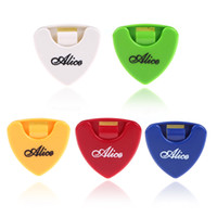 Wholesale Triangle Guitar Pick Holder - Portable Alice 5pcs Plactic Triangle Shape Guitar Pick Plectrum Holder Cases Container Sticky for Different Guitar Pick I369