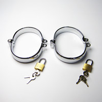 Wholesale Steel Oval Ankle - Factory Directly Sale 2017 Latest Male Female Stainlees Steel Oval Ankle Cuff Shackles Come With One Lock Adult Bondage BDSM Sex Toy