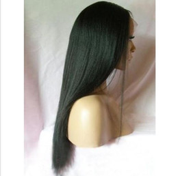 Wholesale Glueless Machine Made Wigs - New arrival glueless full lace wigs virgin brazilian human hair lace front wigs yaki straight natural hairline