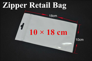 Wholesale 2000pcs Clear Pear White Self Seal Zipper Plastic Retail Packaging Package PP Bag For iPhone S S C Samsung S2 S3 Case Outside X18CM