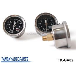 Wholesale Sard Fuel - Universal High Performance SARD Liquid-Filled Turbo Charger Black Fuel Regulator Pressure Gauge Meter TK-GA02 Have In Stock