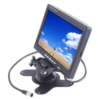 "Wholesale Dvr Video Monitor - car dvr 7"" TFT Color LCD 2 Video Input Car RearView Headrest Monitor DVD VCR parking sensor car camera"