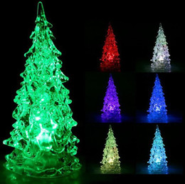 Mini Christmas Tree night Light led christmas lamp flashing RGB changing colorful led christmas lamp Decoration gift for children kids