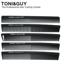 Wholesale Comb Hair Carbon - Toni&Guy Classic Carbon Anti-Static Black Barber Comb The Professional Salon Hair Cutting Combs Brushes 0711 0811 4011 06100-06928 8180 8912